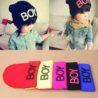 Wholesale Baby Girls Boys Knitted Woolen Skull Hats Toddler Ski Hats BOY Beanie Caps