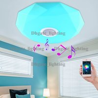 Wholesale New Dimmable Bluetooth Music LED Ceiling Light Phone Control Brief Boby Chandeliers lights fixture Sitting Room Bedroom Lamp
