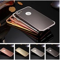 aluminium mirrors - For Iphone Detachable Metal Aluminium Bumper Mirror Phone Case Cover For Iphone Plus S Plus S Samsung S7 Edge S7 S6 Edge S6 J3 J5 J7