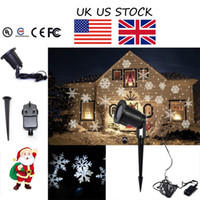 best uk stocks - UK US STOCK Moving Outdoor and indoor LED Snowflake Laser Light Projector Lamp For parties and best gift for Christmas