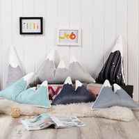 Wholesale Pillow Mountains Child Toy Cushion Nordic Style Snow Mountain Decorative Pillows Digital Multifunction Shaped Cushions Cartoon Printed hm