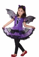 bat costume wings - Halloween Black Bat Wings with Purple Glitter Halloween Fancy Dress Hen Party Costume Adult children COSPLAY Fairy Elves Wing holday gift