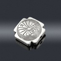 Wholesale Vintage Charms Tibetan silver Whorl Alloy loose beads spacer bead for handmade necklace bracelets bangles DIY jewelry