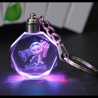 ball glass company - Crystal key button custom within the carved LED luminous LOGO DIY custom gift company to commemorate the creation of small gifts