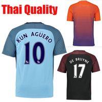 Wholesale soccer uniform soccer jerseys KUN AGUERO DE BRUYNE SANE SILVA TOURE YAYA thai quality soccer jersey thailand