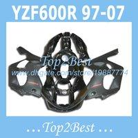 al por mayor yamaha kits del cuerpo carenados-Todos los carenados negros para Yamaha YZF600 R YZF600R 1996-2007 1997 1998 1999 2000 YZF 600R 96-07 yzf600r kits de cuerpo de carenado # e734n