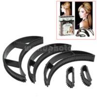 Wholesale 5 Women Lady Magic Hair Volumizing Bumpits Inserts Bump Up Clip Black Gift hair acessorie