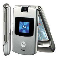 Wholesale Refurbished Original Motorala RAZR V3 Unlocked Flip Mobile Phone inch Screen MP Camera G English Arabic Russian Keyboard DHL