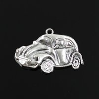 antique vw - Charms car vw bug beetle herbie mm Tibetan Silver Plated Pendants Antique Jewelry Making DIY Handmade Craft