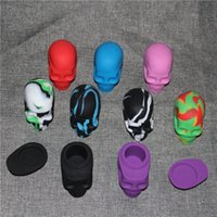 Wholesale skull shape silicone jar silicone dab wax containers OEM available silicone jars dab wax container ml