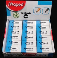 Wholesale France MAPED Mapendo Dual purpose pen eraser one side canbe wiped away for pencil one side canbe wiped away for pen creative