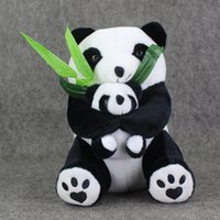 baby sit games - 27cm Sitting Mother and Baby Panda Plush Toy Soft Plush Stuffed Toys Doll for Kids Christmas Gift Safty retail