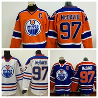 Wholesale Edmonton Oilers McDavid Hockey Jersey with C Patch Cheap Hockey Wears Embroidered Jerseys Discount Men Hockey Uniform