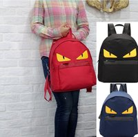 Wholesale Waterproof Novelty women s backpack Oxford cloth Shoulder bag cute Monster pattern black couple bag Fashion Bags for Christmas gift