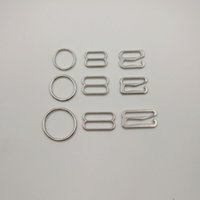 alloy slider - Various size of silver alloy bra accessories buckle hook ring slider sets