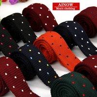 Precio de Lazo de lana-Hombres de tejer corbatas personalizadas Lazo de la boda del partyGroom Corbatas Lazos formales de la boda del negocio de los señores orden de la mezcla