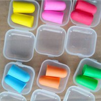 Wholesale Colorful Bullet Shape Soft Foam Sponge Earplug Ear Plug Keeper Protector Travel Sleep Noise Reducer Earplugs ZA1947