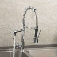 Wholesale Modern Monobloc Chrome Brass Kitchen Sink Pull Out Spray Faucet Mixer Tap