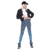 american apparel leggings - New Sexy Women Mermaid Leggings Fish Scale Printed sport female fitness leggins american apparel styles TA46