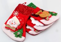 Wholesale Large Santa Claus Christmas stockings three dimensional Christmas stockings socks Christmas gift bag of Christmas decorations