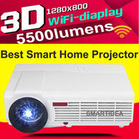 Wholesale Android WiFi Smart P HD LED Home Cinema Projector D LCD Video Games Digital TV Proyector Beamer with Bluetooth