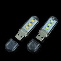 Energy Saving & Fluorescent LED Bulbs 1% Wholesale-1Pcs New Mini 3 LEDs 5730 SMD LED USB lamp Book lights Camping Bulb Nightlight For PC Laptops Notebook Reading Night light