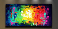 Wholesale Framed Colorful Pure Hand Painted Modern Wall Decor Abstract Art Oil Painting On High Quality Canvas Multi customized sizes Ab072 luci
