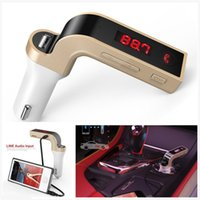Wholesale G7 Bluetooth Car Kit Handsfree FM Transmitter Radio MP3 Player USB Charger AUX