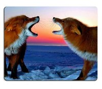 animal arctic fox - arctic red Foxes wildlife animals Mouse Pads Customized Made to Order Support Ready High Quality Eco Friend