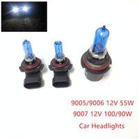 Wholesale Car Parts Headlight Bulb - 2pcs 12V (100 90W 9007) (55W 9005 9006) Ultra-white Xenon HID Halogen Car Headlights Bulbs Lamp Auto Parts Car Light Source Accessories