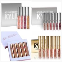 Wholesale New Kylie Holiday Edition Birthday Edition Lipsticks Chrismas Kylie lip kit Gold Metal Matte lipstick KoKo Collection Lipgloss DHL Free