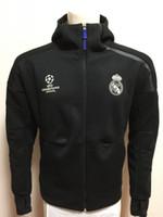 Wholesale Champions Real Madrid zne Hoody Sweatshirt Men Hoodies Fashion Zipper Sportsware Tracksuit Tracksuits hooded jacket men Training Rain Jacket