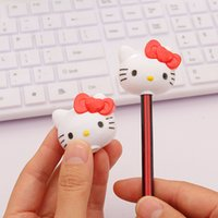 Wholesale Kawaii Hello Kitty Pencil Sharpener Cutter Knife Cute Students Stationery School Office Supplies papelaria gift for kids