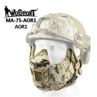 Unisex airsoft military gear - WoSporT Sinairsoft Militay Tactical V5 Modular Masks D Cordura Protect Mouth Half Face Mask for WarGame Hunting Airsoft Paintball Gear