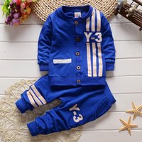 Winter baby sports apparel - New Autumm Baby Sets Baby Boys Sports Long Sleeved Suit Shirt and Pants Apparel Set Clothing for Baby Kids Boy Clothes