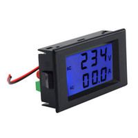 Cheap Professional Dual Display Digital AC Volt Amperemeter Voltage Panel Meter+Current Sense Resistors 100A 300V 110V 220V