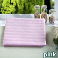 Wholesale 4pcs cotton satin sheet beauty bed stripe slanting beauty care beauty massage bed sheets with a hole