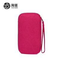 Wholesale PC Unisex Travel Passport Credit ID Card Cash Wallet Purse Holder Document Bag Handbag Zipper Makeup Organizer