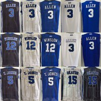 allen sports - cheap Jahlil Okafor Justise Winslow Tyus Jones Grayson Allen jersey Duke Blue Devils Jerseys men College sport shirt sportswer