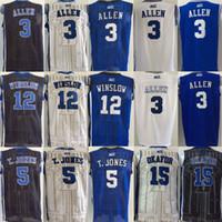 Wholesale cheap Jahlil Okafor Justise Winslow Tyus Jones Grayson Allen jersey Duke Blue Devils Jerseys men College sport shirt sportswer