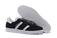 Wholesale Top Quality Men Women Casual Suede Gazelle Black Grey Red Yellow Lightweight Walking Hiking Shoes