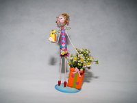 airline cartoons - Girl Toys Home Decoration Iron Handicraft Airline Stewardess Doll