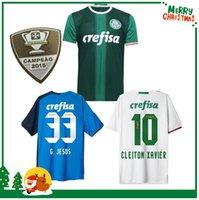 Wholesale 16 Palmeiras SOCCER JERSEYs HOME GREEN DUDO G JESUS JEAN ALECSANDRO Palmeiras JERSEYS ALLIONE CLEITON XAVIER football Brazil SHIRT