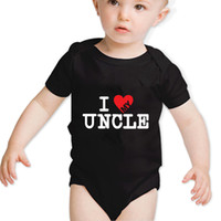 baby onesie aunt - 2017 Gift for Newborn Baby Clothes costumes100 Cotton Uncle Aunt Baby Short Sleeved Onesie Vest Romper M black white clothing