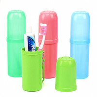 bath vacation - Creative Storage Box Portable Outdoor Travel Toothbrush Toothpaste Holder Tumbler Cup Organizers Bath Towel Camping Vacation