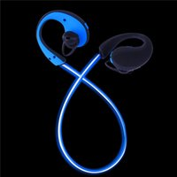 Wholesale Light emitting wireless bluetooth headset luminous movement fluorescence running headphones noctilucent bluetooth headsets Along with the mu