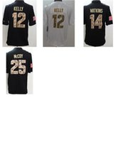 autumn kelly - Mens Football Jerseys Jim Kelly Sammy Watkins LeSean McCoy Stitched Salute to Service Limited Jersey