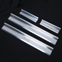 auto door sill guards - Auto Accessories Door Stainless Steel Scuff Plate Door Sill Entry Guard For Jeep Wrangler JK Per Set Car Styling