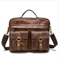 Wholesale 2017 Famous Brand Leather Men Shoulder Bag Casual Business Satchel Mens Messenger Bag Vintage Men s Crossbody Bag