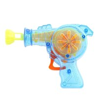 Cheap Wholesale-Kids Favourite Colorful Gun Bubble Machine LED Light Flashing Outdoor Funny Game Playing Toy Non-toxic Material for Children
